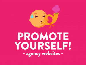 promote yourself through agency websites
