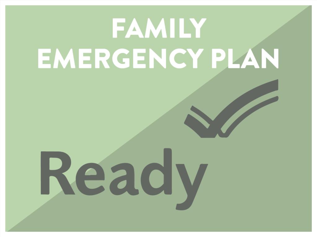 Family Emergency Plan Ready.gov