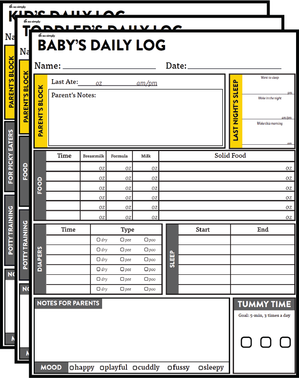 Nanny daily log preview