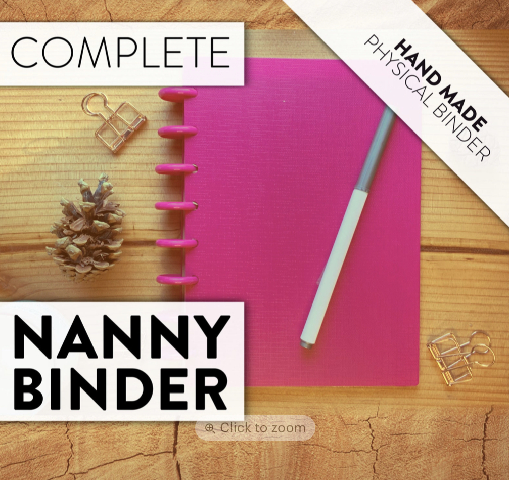 Physical Complete Nanny Binder