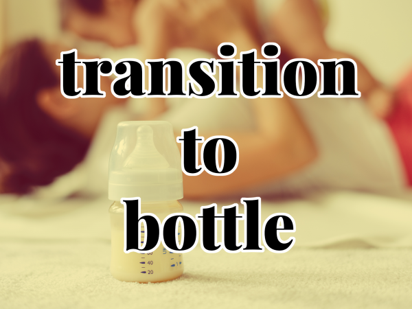 transitioning to bottle
