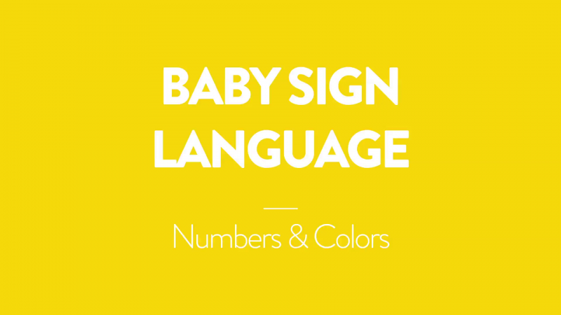 Baby Sign Language | Numbers & Colors
